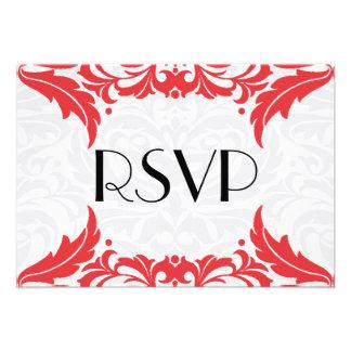 Victorian Baroque Red Flourish Rsvp Custom Announcement