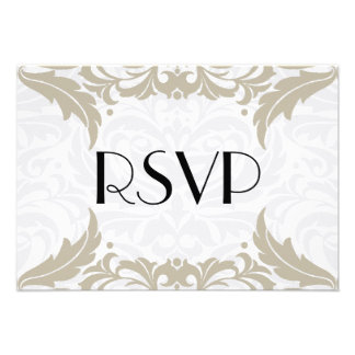 Victorian Baroque Tan Flourish Rsvp Personalized Announcement