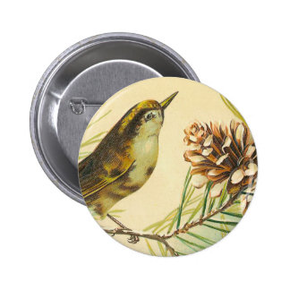 Victorian Bird Button