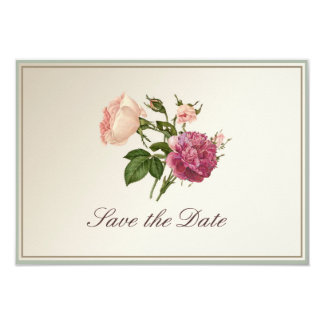 Victorian Botanical Style Save the Date Card Personalised Announcements