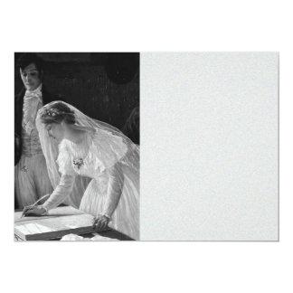 Victorian Bride 13 Cm X 18 Cm Invitation Card