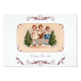 Victorian Caroling Kids Christmas Party Invitation