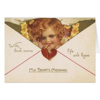 Victorian Cherub Valentine's Day Card