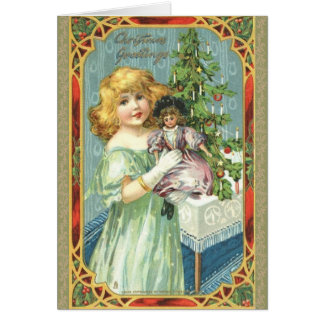 Victorian Child Christmas Card
