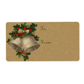 Victorian Christmas Bell Labels