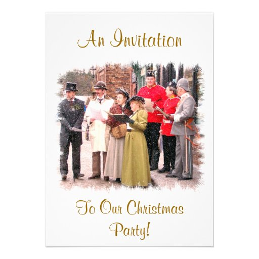 VICTORIAN CHRISTMAS CAROL SINGERS INVITE