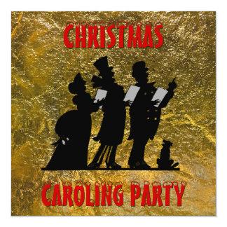Victorian Christmas Caroling Party 13 Cm X 13 Cm Square Invitation Card
