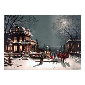 Victorian Christmas Party Invitation