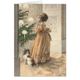 Victorian Christmas Retro Vintage Holiday Card
