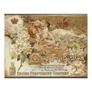 Victorian Crab Apple Perfume Ad 11 Cm X 14 Cm Invitation Card