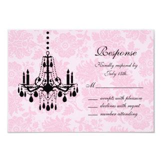 Victorian Damask  RSVP 9 Cm X 13 Cm Invitation Card
