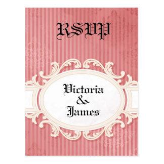 Victorian Damask - RSVP Post Card