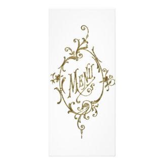 Victorian Design Menu Customised Rack Card