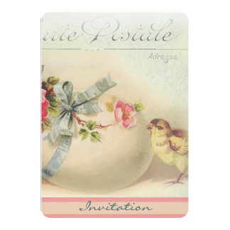 Victorian Easter chic and egg 13 Cm X 18 Cm Invitation Card