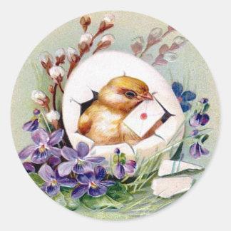 Victorian Easter Classic Round Sticker