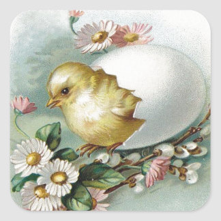 Victorian Easter Ephemera Square Sticker