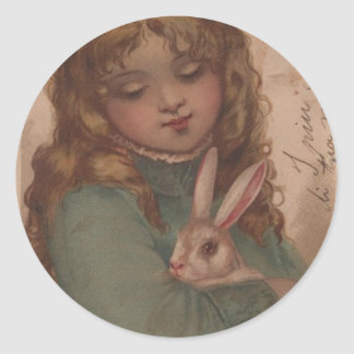 Victorian Easter Girl Stickers