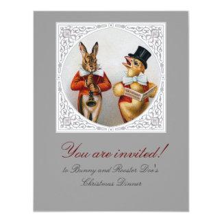 Victorian -Era Holiday Dinner Customizable Card