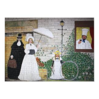 """Victorian Family Scene Invitation 5"""" X 7"""" Invitation Card"""