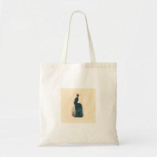 Victorian Fashion Woman Dress Art Print Drawing Tote Bag