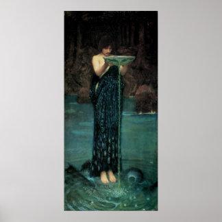 Victorian Fine Art, Circe Invidiosa by Waterhouse Poster