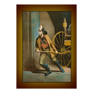 "Victorian Firefighter 2 ""The American Fireman"" Poster"