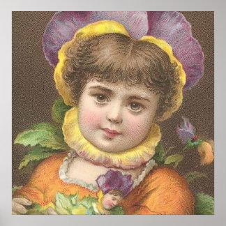 Victorian flower child 2 poster