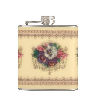 "Victorian ""Gilded Pansies"" Flask"