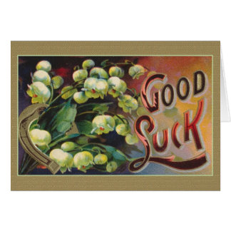 Victorian Good Luck Greeting Card