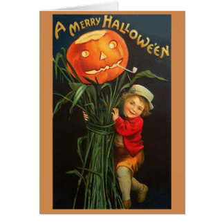 Victorian Hallowe'en Greeting Card