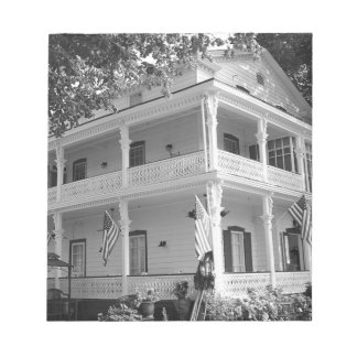 Victorian Home in Black & White Notepad