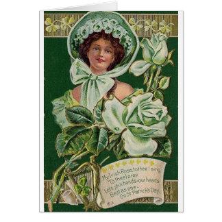 Victorian Irish Rose St. Patrick's Day Card