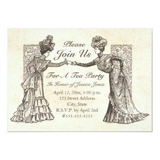 Victorian Ladies 13 Cm X 18 Cm Invitation Card