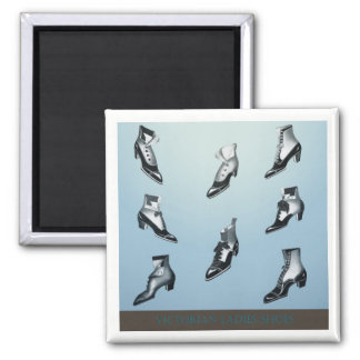 Victorian Ladies Shoes! Square Magnet