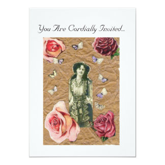 Victorian Lady and the Rose Invitation