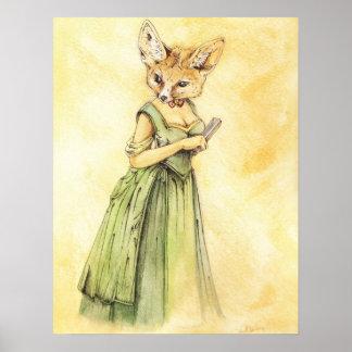 Victorian Lady Fennec Fox Print
