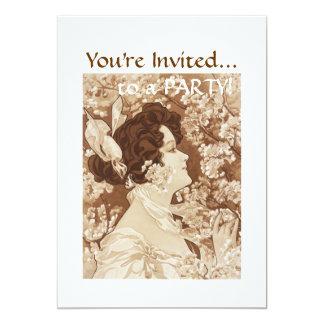 "Victorian Lady 5"" X 7"" Invitation Card"