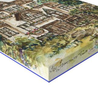 Victorian Mansion San Francisco Canvas Wrap Gallery Wrap Canvas