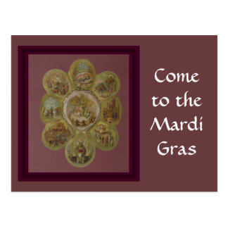 Victorian Mardi Gras Ball Postcard