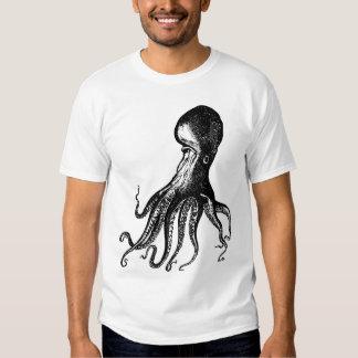 Victorian Octopus Kraken for Steampunk Pirates Tshirts