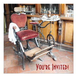 VICTORIAN OLD ENGLAND UK PERSONALIZED INVITATION