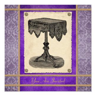 Victorian Ornate Antique Table Party Invitation