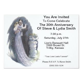 Victorian Romance Anniversary Invitation