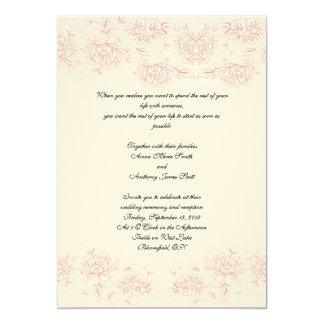 Victorian Rose 13 Cm X 18 Cm Invitation Card