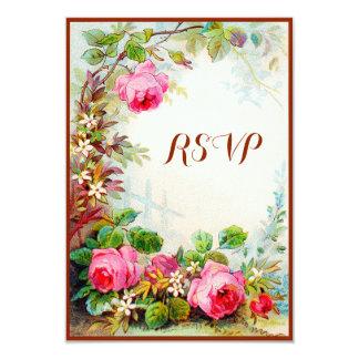 Victorian Rose Cottage Garden RSVP 9 Cm X 13 Cm Invitation Card