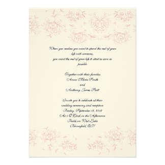 Victorian Rose Invite