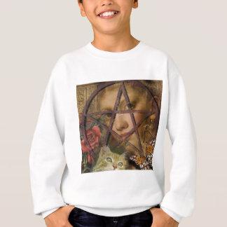 victorian rose pentagram image sweatshirt
