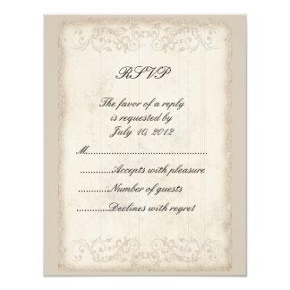 Victorian RSVP Card 11 Cm X 14 Cm Invitation Card