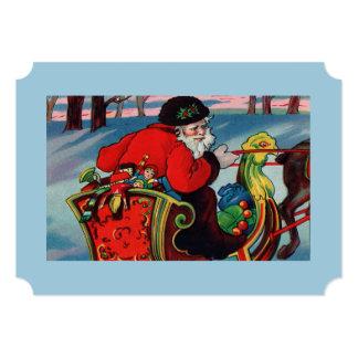 """Victorian Santa Invitation 5"""" X 7"""" Invitation Card"""