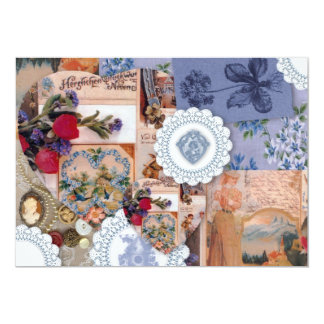 VIctorian Save The Date 5x7 Paper Invitation Card